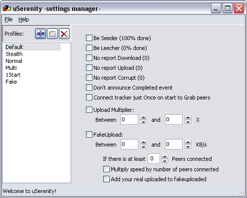 uSerenity -Settings Manager-